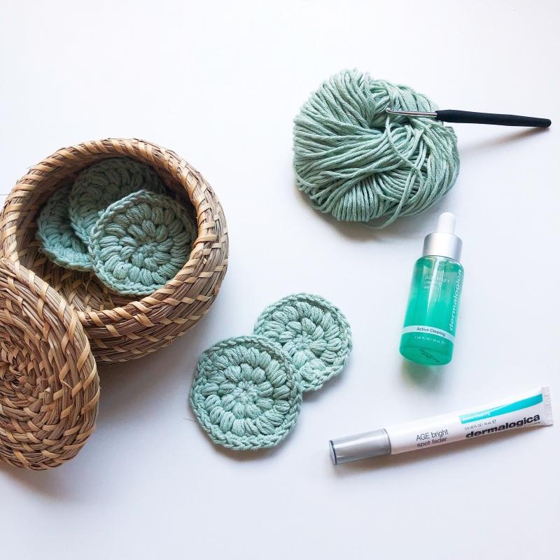 Kleinesbild - Waschbare Kosmetikpads aus 100% Bio-Baumwolle - 5er Pack