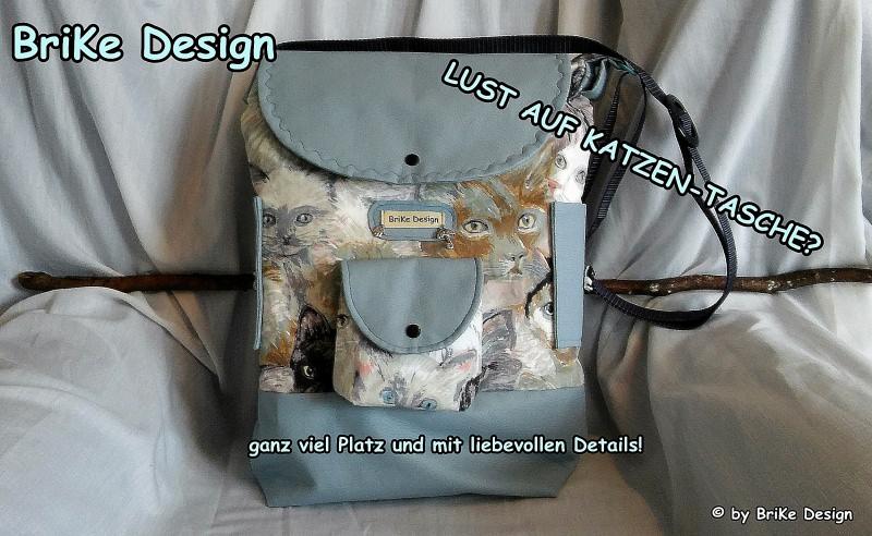 -  ☆Katzen-Tasche☆  stylisch cool handmade BriKe Design  -  ☆Katzen-Tasche☆  stylisch cool handmade BriKe Design