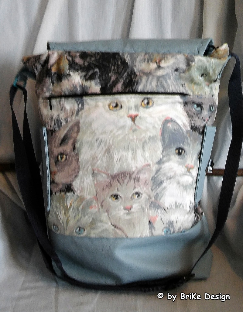 Kleinesbild -  ☆Katzen-Tasche☆  stylisch cool handmade BriKe Design