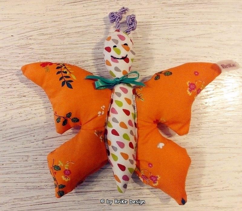 -  ♡Schmetterlingskind orange♡ zum Liebhaben und Kuscheln! handmade BriKe Design  -  ♡Schmetterlingskind orange♡ zum Liebhaben und Kuscheln! handmade BriKe Design