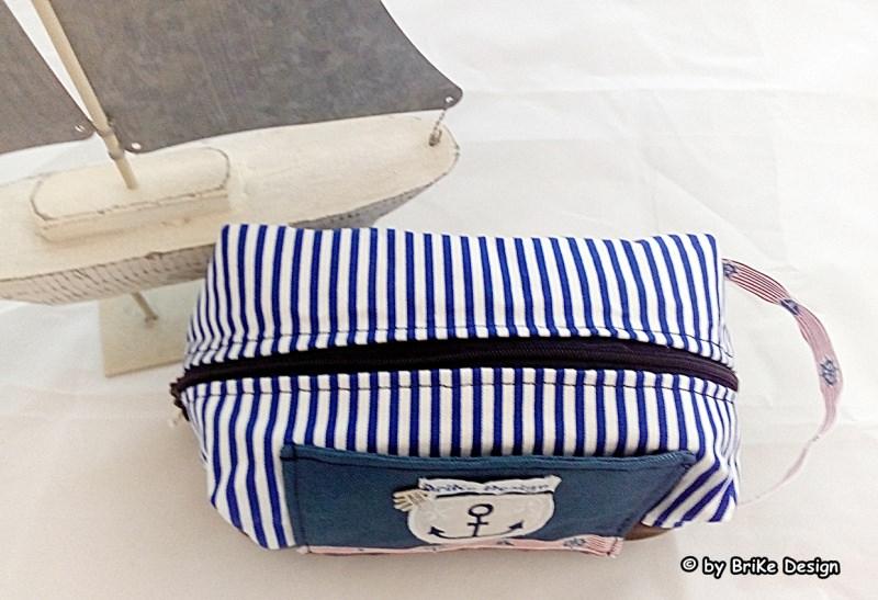 Kleinesbild -  ☆Krimskrams-Tascherl maritim Anker☆ handmade BriKe Design