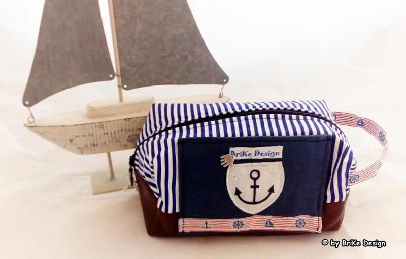 -  ☆Krimskrams-Tascherl maritim Anker☆ handmade BriKe Design  -  ☆Krimskrams-Tascherl maritim Anker☆ handmade BriKe Design