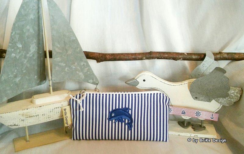 -  ☀Krimskrams-Täschchen Delphin☀ maritim handmade BriKe Design -  ☀Krimskrams-Täschchen Delphin☀ maritim handmade BriKe Design