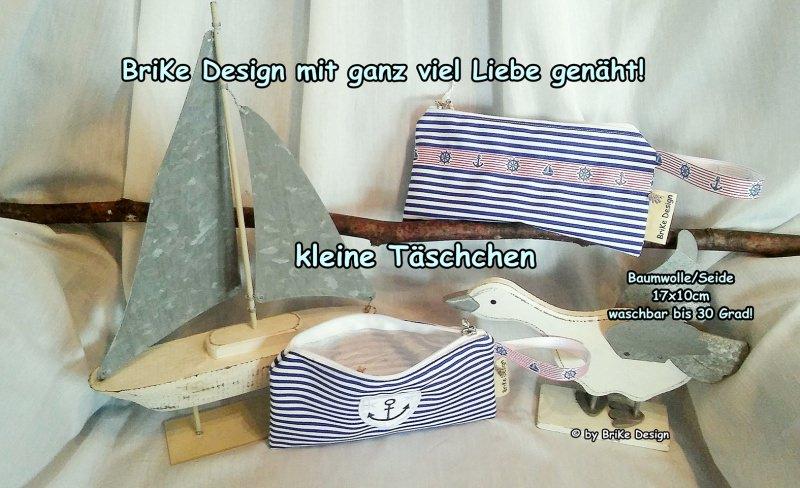 Kleinesbild -  ☀Krimskrams-Täschchen maritime Borte☀ handmade BriKe Design