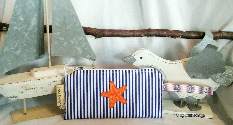 -  ☀Krimskrams-Täschchen Seestern☀ maritim handmade BriKe Design -  ☀Krimskrams-Täschchen Seestern☀ maritim handmade BriKe Design