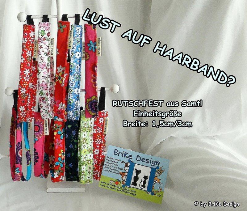 Kleinesbild -  ☆Haarband rosa Blumen/schmal☆ handmade BriKe Design