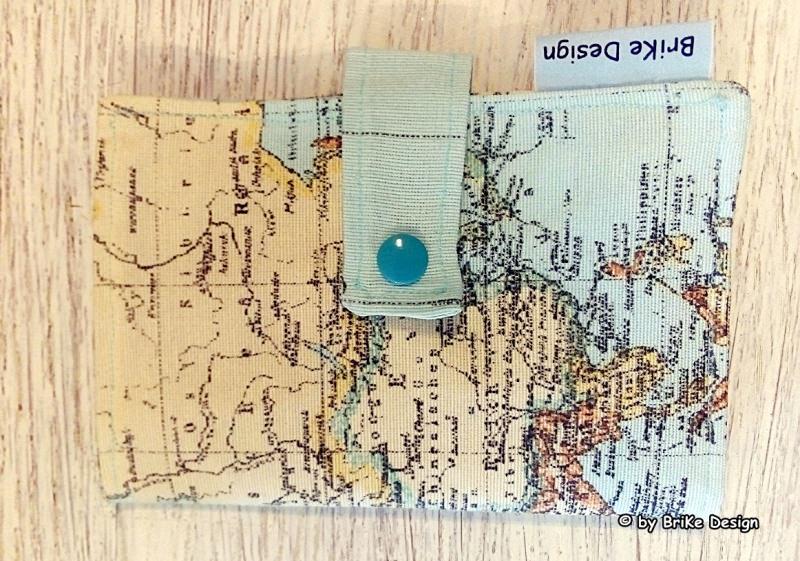 Kleinesbild -  ☀stylische Reise-Pass-Hülle Welt☀ handmade BriKe Design