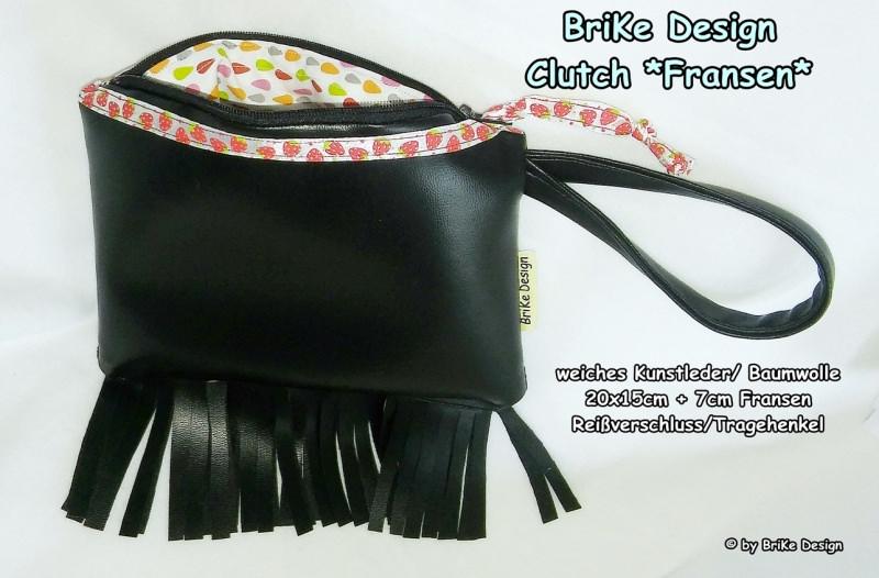 -  ☀stylische Clutch☀ *Fransen* handmade BriKe Design  -  ☀stylische Clutch☀ *Fransen* handmade BriKe Design