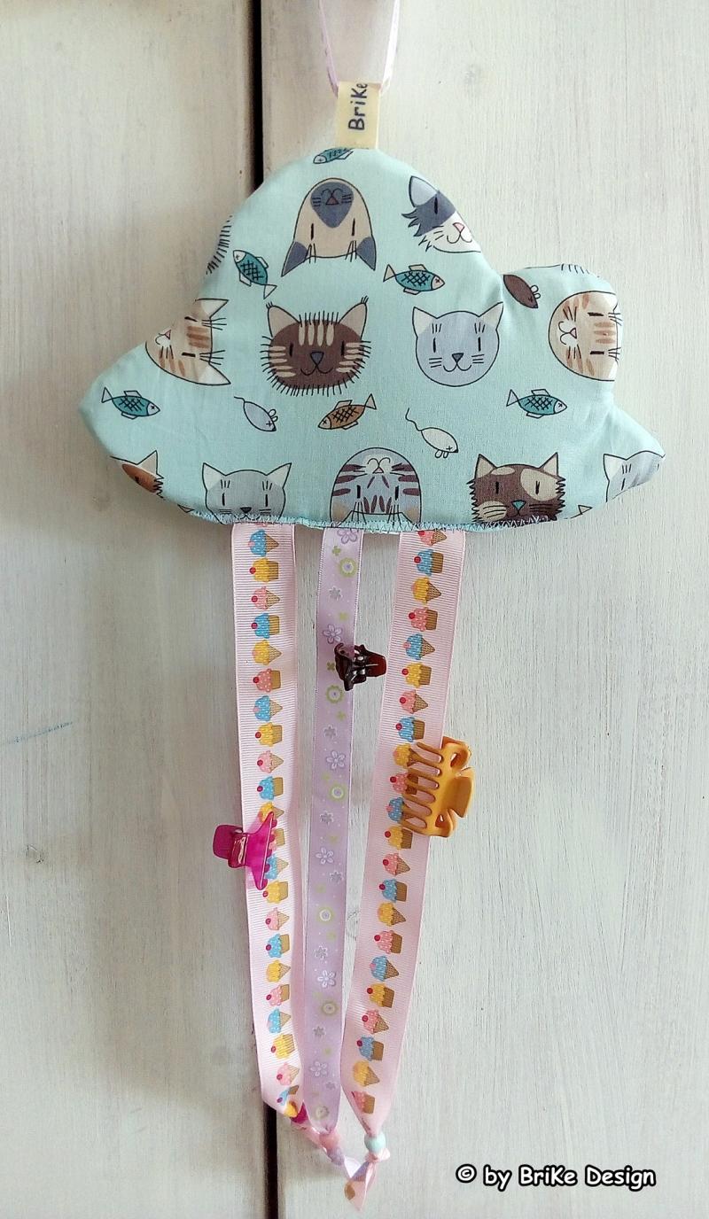 -  ♡herzige Haarspangen-Wolken mit Katzen oder Sternen♡ handmade BriKe Design  -  ♡herzige Haarspangen-Wolken mit Katzen oder Sternen♡ handmade BriKe Design