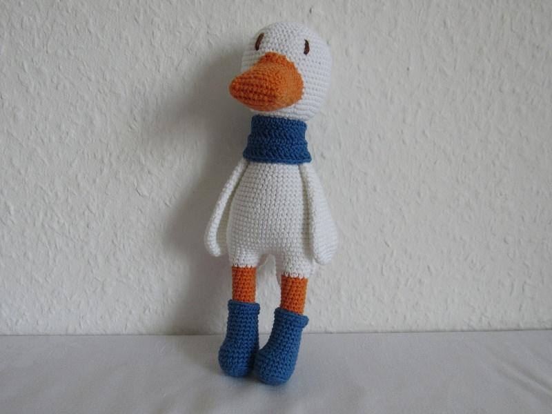 Spielsachen : Kuscheltier Ente gehäkelt aus Bio-Baumwollgarn, Ernie ...