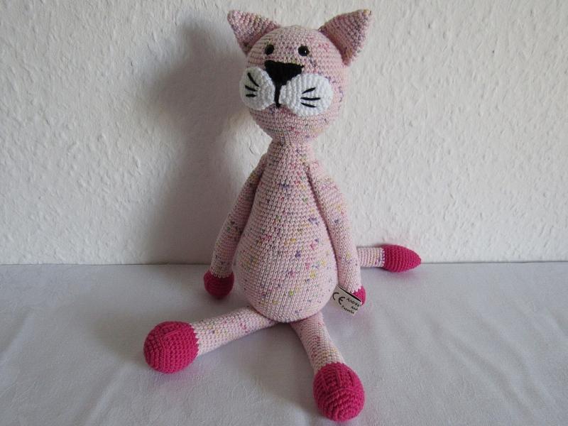 Spielsachen : Kuscheltier Katze gehäkelt aus Bio-Baumwolle, Kater