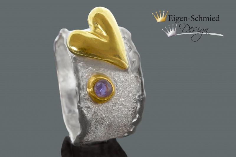 - Goldschmiede Silberring  - Goldschmiede Silberring