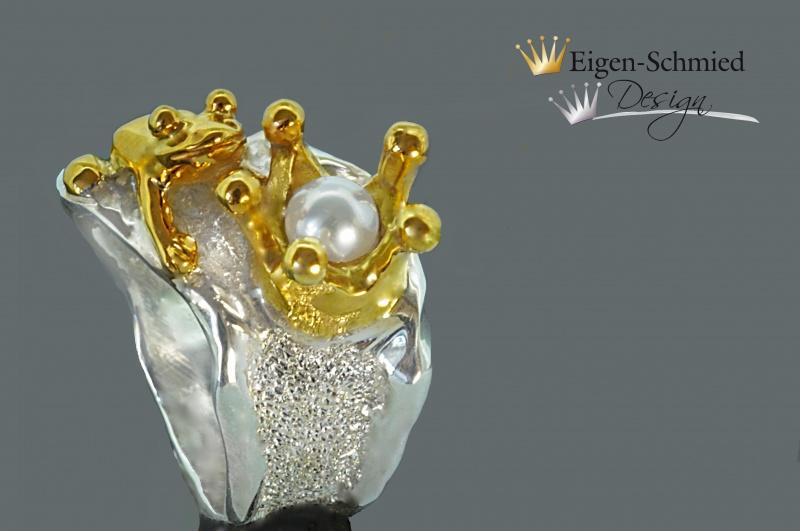 Kleinesbild - Goldschmiede Froschring