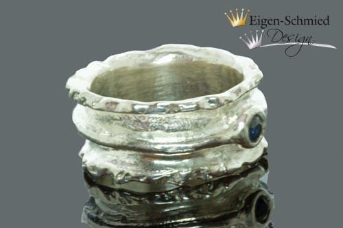 "Kleinesbild - Goldschmiede Silberring ""charming"", Silberschmuck handmade, 925 sterling silber massiv, Goldschmiedearbeit, Schmuck Damen, Weihnachten, Geschenkidee, handmade ring"