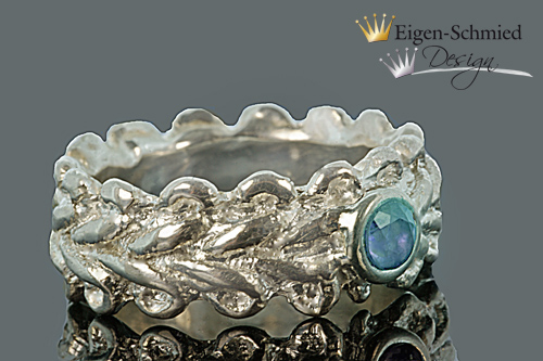 "Kleinesbild - Goldschmiede Silberring "" memory "" in 925er Sterling Silber, Goldschmied, Silberschmuck, Silberring, Ehering, Liebe, Ringe Silber, Schmuck, handgefertigt"