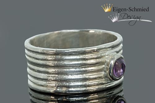 "Kleinesbild - Goldschmiedering "" winding "" in 925er Sterling Silber, Silberring, Fingerring, breiter Ring, massiv, handmade, Unikat, Ring, Schmuck, Silberschmuck, Verlobungsring, Damenring,"