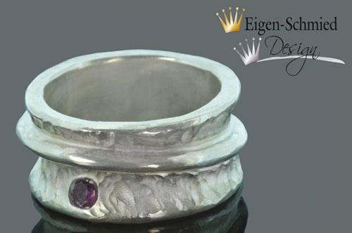 """Kleinesbild - Goldschmiede Silberring """"charme"""" , 925er Sterling Silber, Goldschmiedearbeit, Silberringe, Ring, Ringe, Ringe Silber, Handmade, Unikat, massiv, Fingerring, Damenschmuck"""