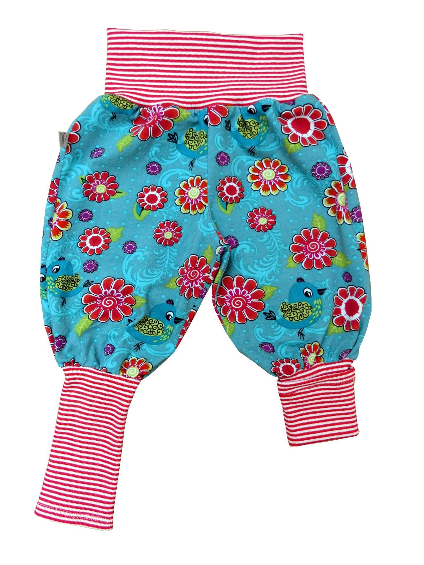 Kleinesbild - Mitwachshose Blumen Hose Pumphose aus Jersey