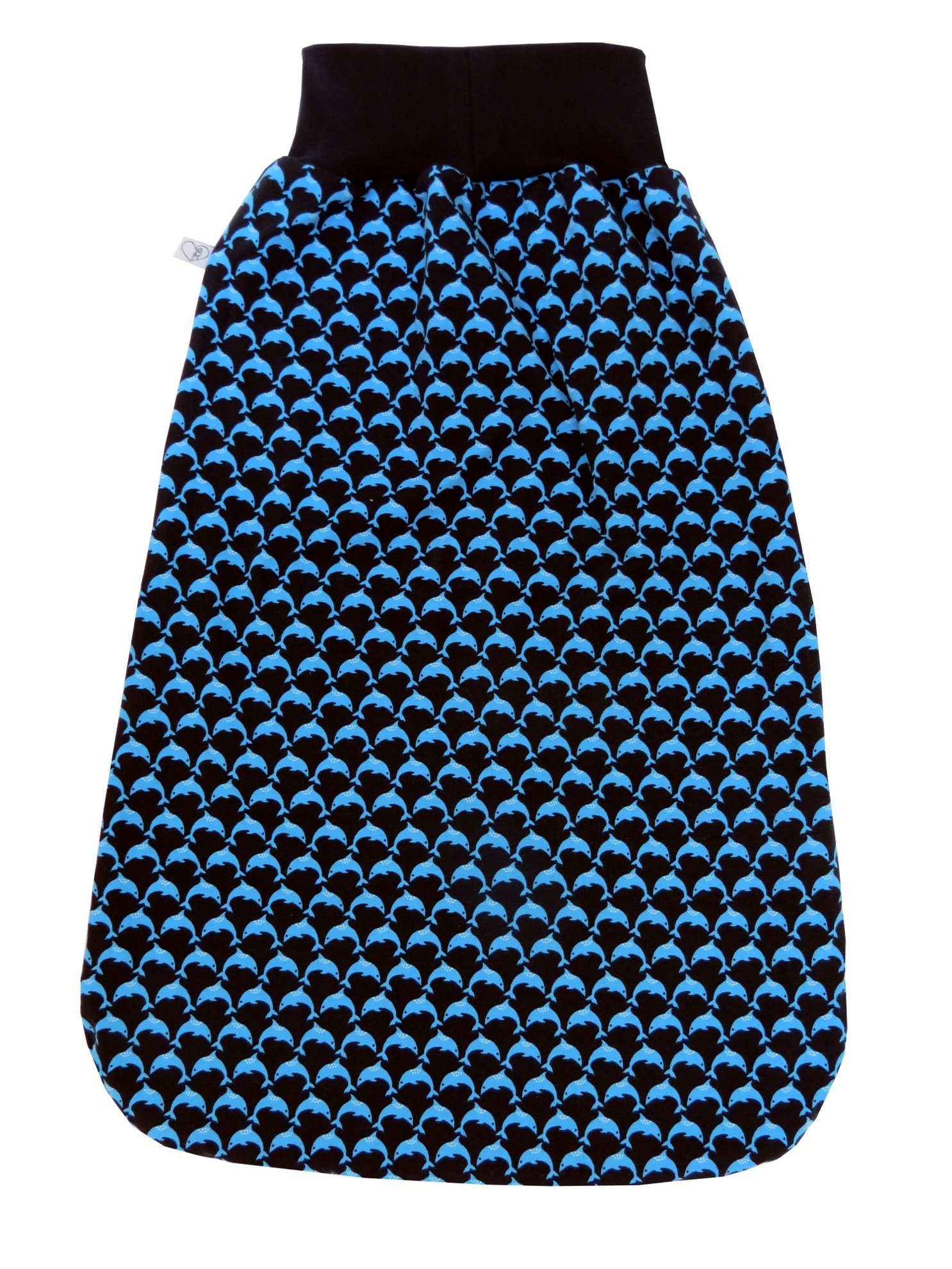 Kleinesbild - Schlafsack Delfine Fußsack Pucksack in blau mit Delfinen