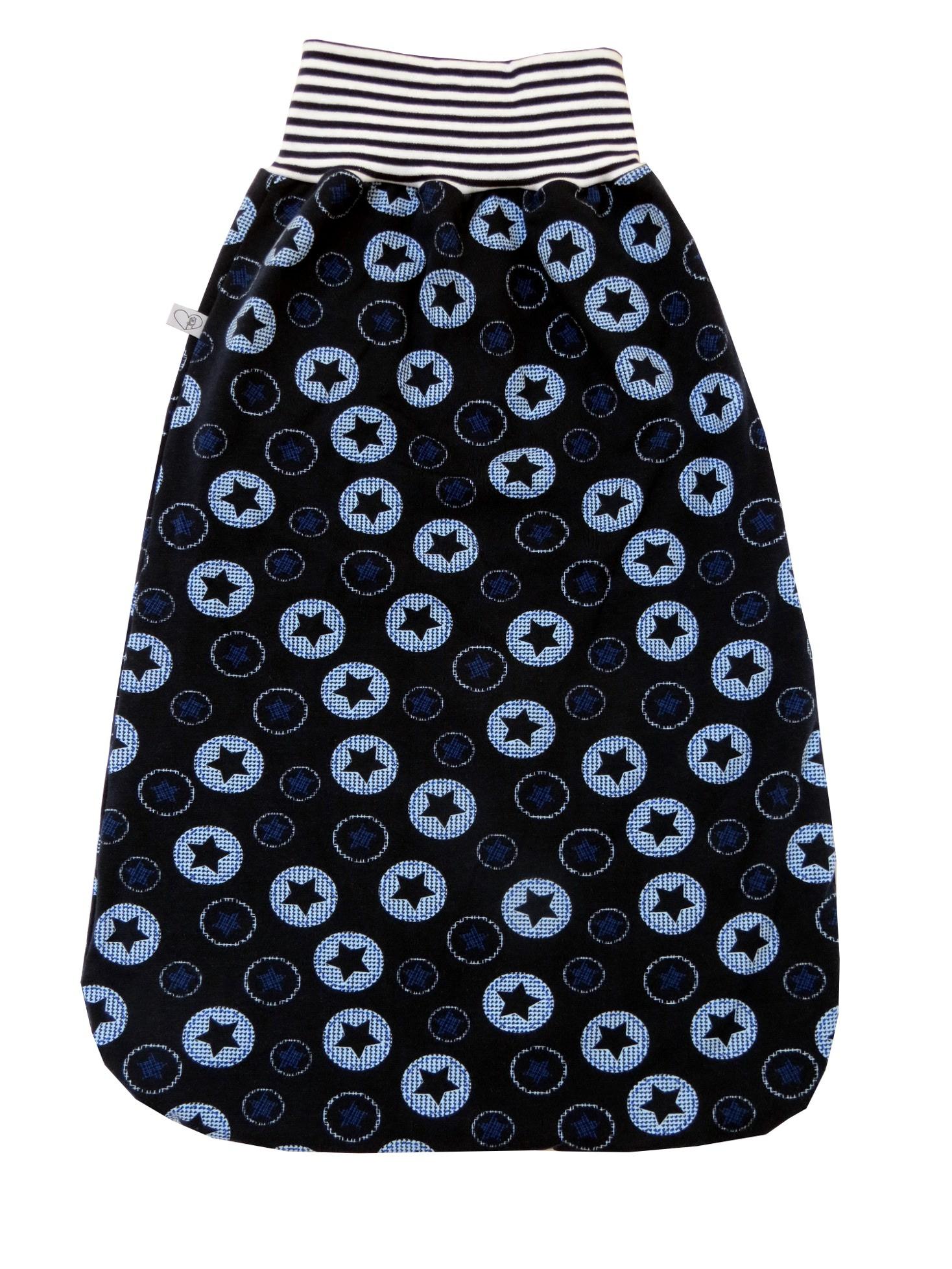 Kleinesbild - Schlafsack Sterne Fußsack Pucksack in blau mit Sternen