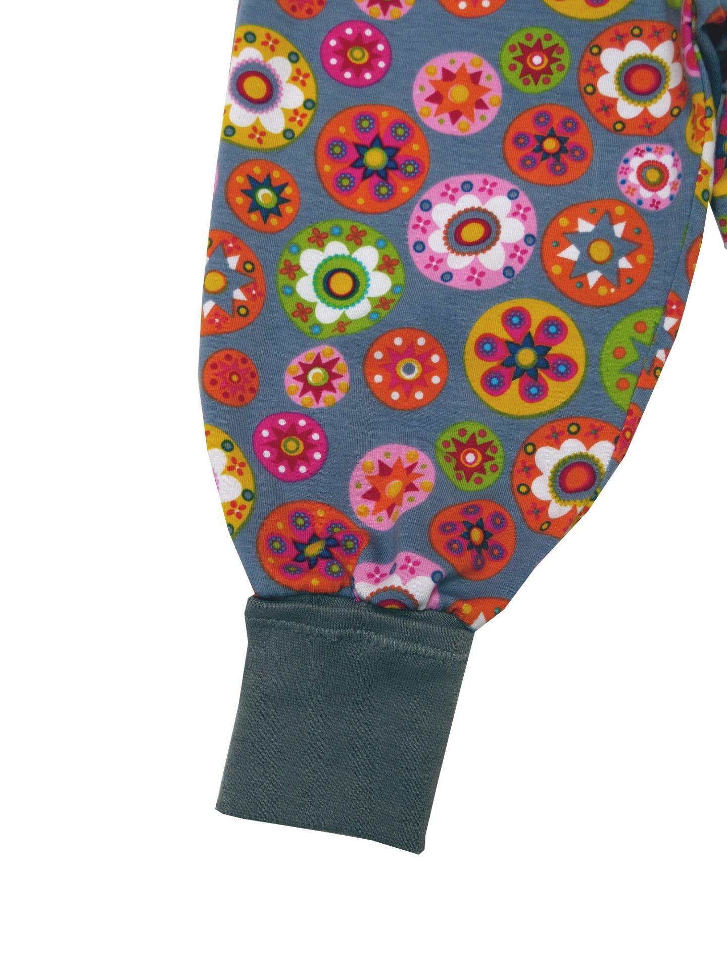 Kleinesbild - Mitwachshose Blumen Hose Pumphose grau bunt
