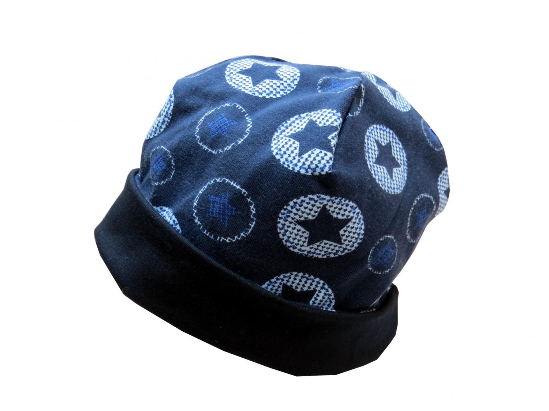 - Mütze in blau mit Sternen Babymütze - Mütze in blau mit Sternen Babymütze