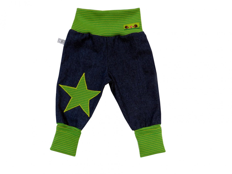 - Jeans Mitwachshose Stern grün Babyhose Hose Pumphose - Jeans Mitwachshose Stern grün Babyhose Hose Pumphose