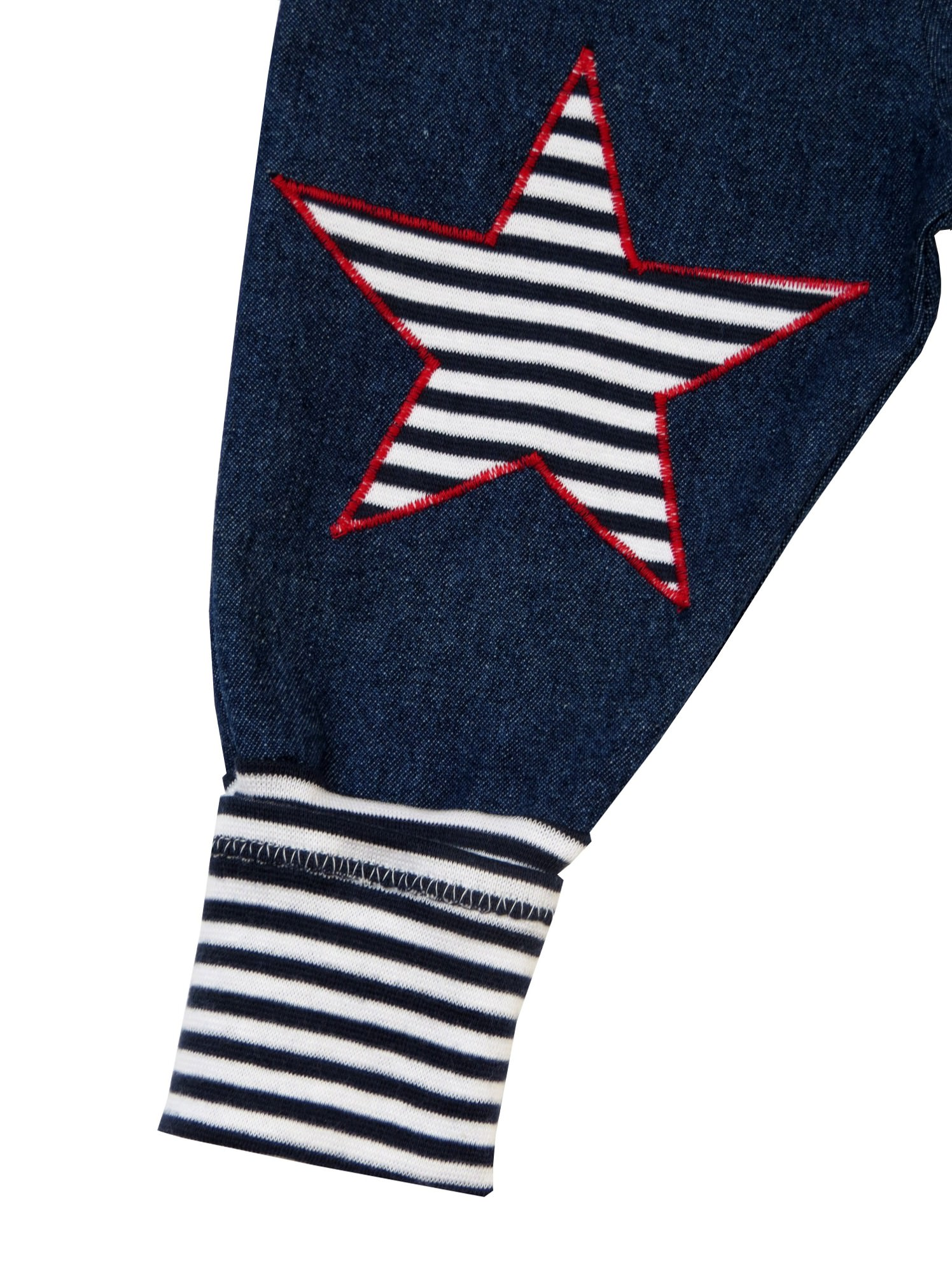 Kleinesbild - Jeans Mitwachshose Stern blau weiß Babyhose Hose Pumphose