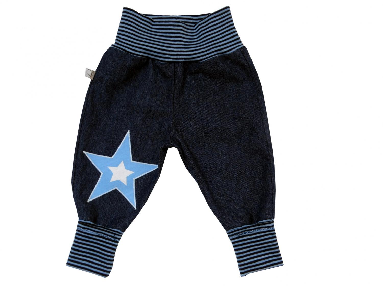- Jeans Mitwachshose Stern blau Babyhose Hose Pumphose - Jeans Mitwachshose Stern blau Babyhose Hose Pumphose