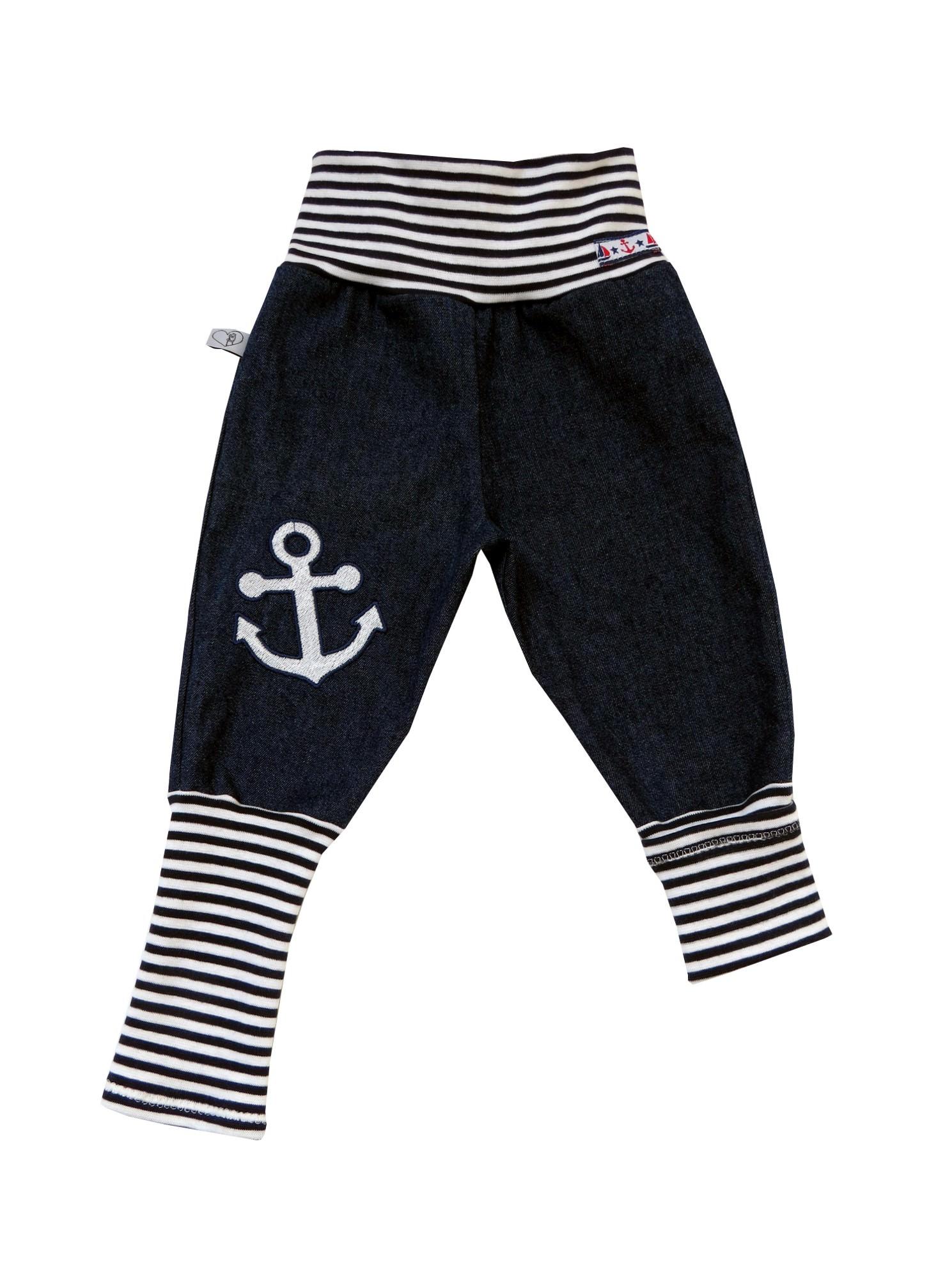 Kleinesbild - Jeans Mitwachshose Anker Babyhose Hose Pumphose