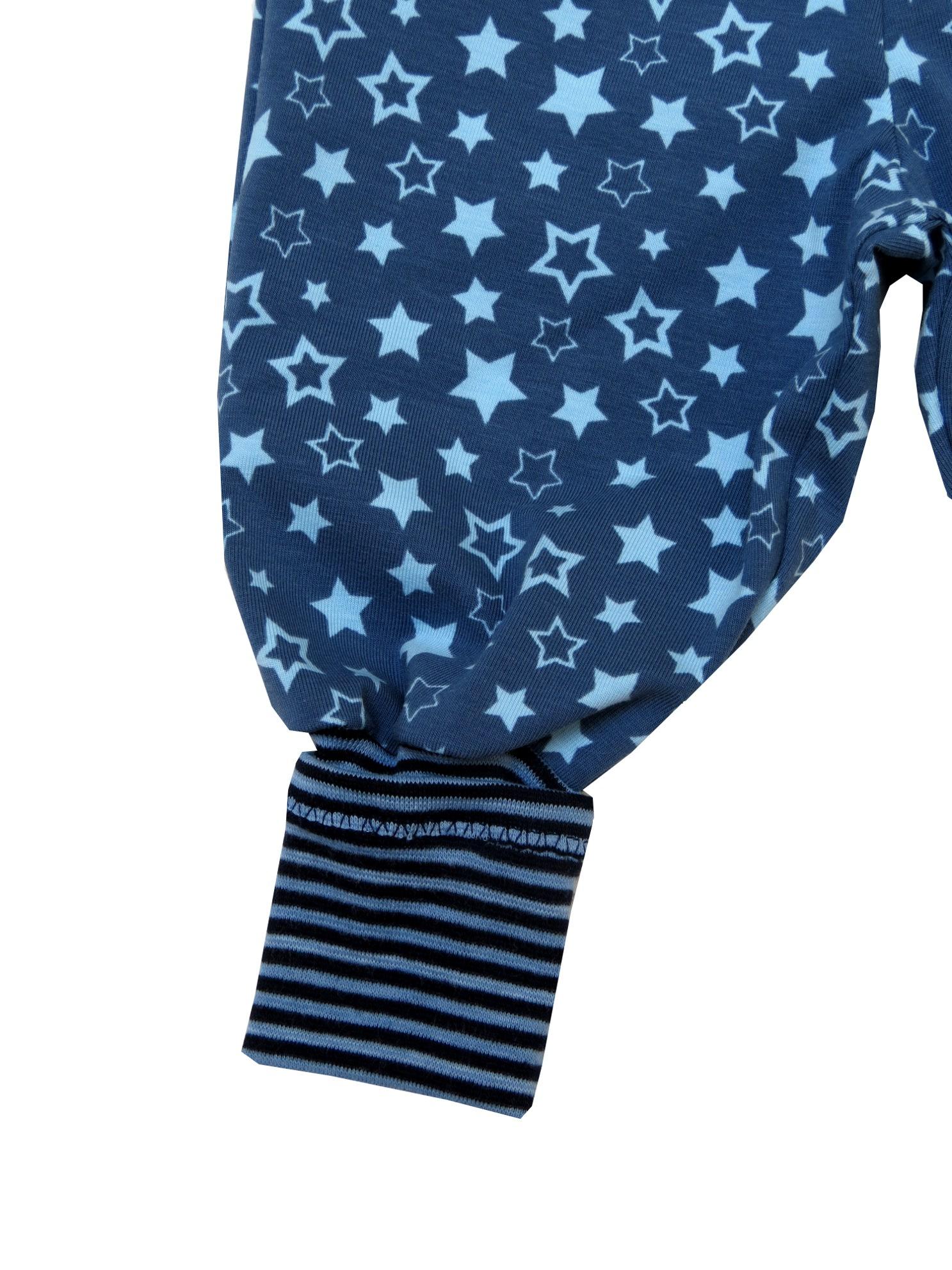 Kleinesbild - Mitwachshose Sterne Hose Pumphose blau Babyhose