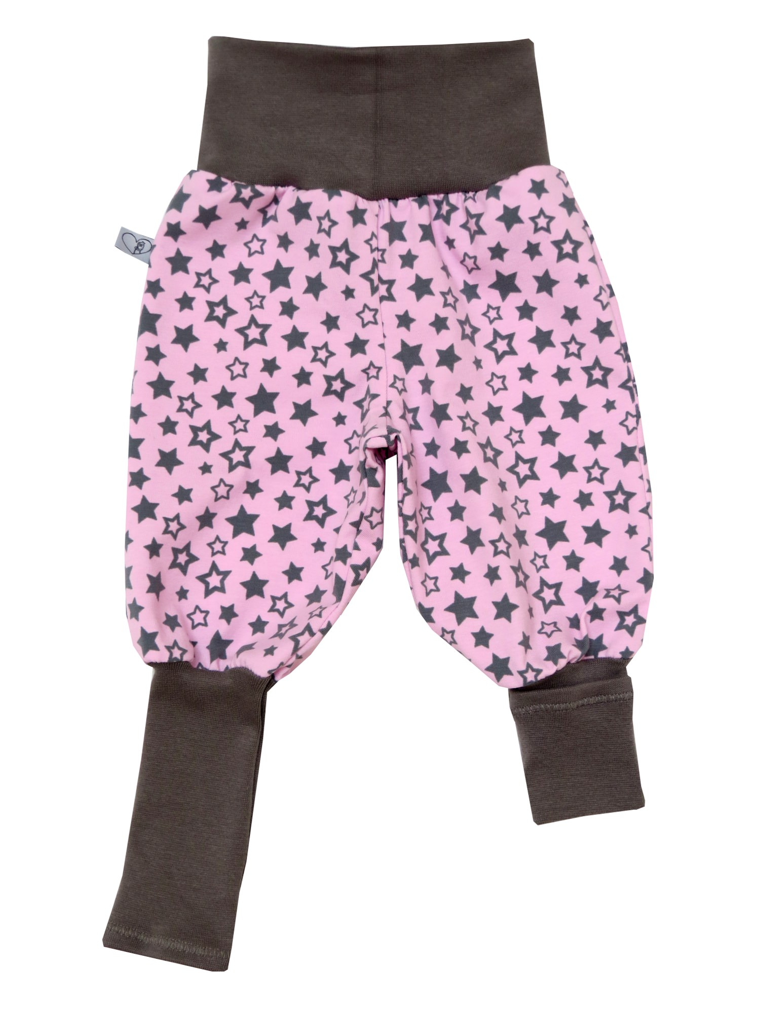 Kleinesbild - Mitwachshose Sterne Hose Pumphose rosa grau Babyhose