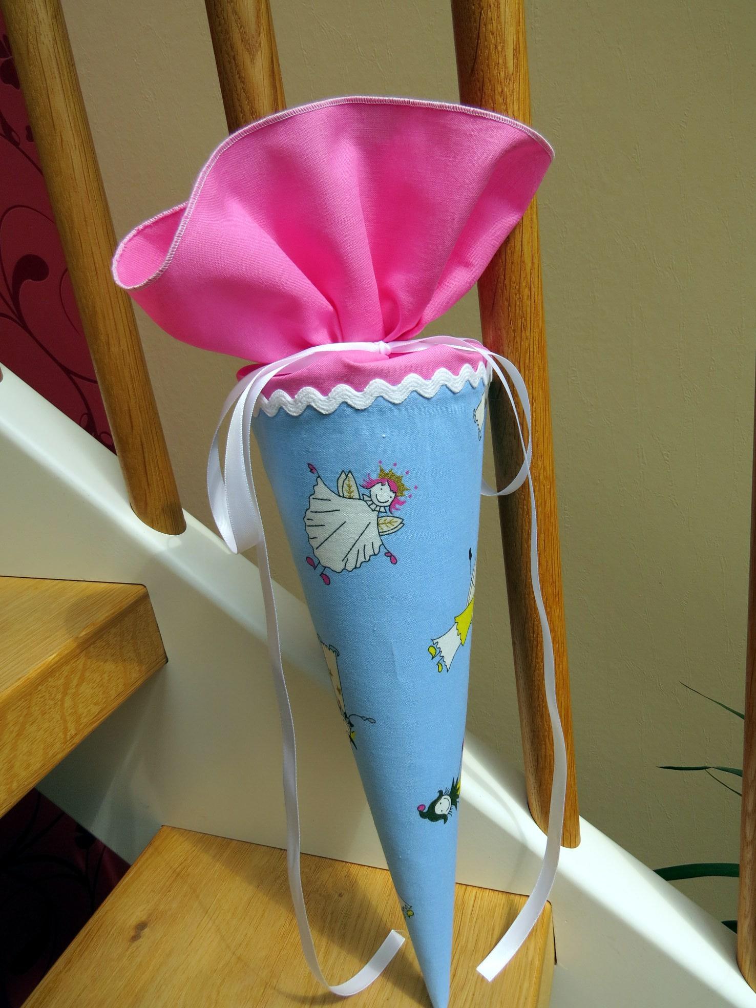 Kleinesbild - Geschwistertüte Kindergartentüte aus Stoff Schutzengel Fee