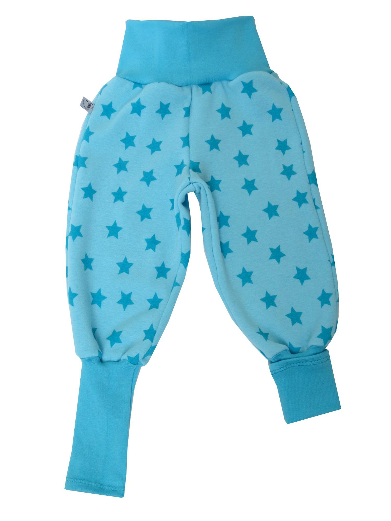 Kleinesbild - Warme Mitwachshose für Babys und Kleinkinder in blau türkis