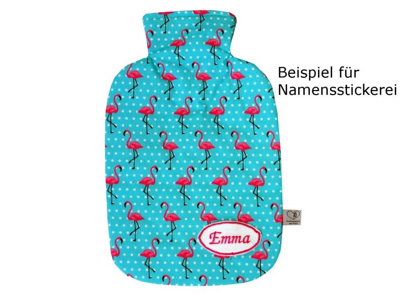 Kleinesbild - Wärmflaschenbezug hellblau mit Rosen für 2l Wärmflasche