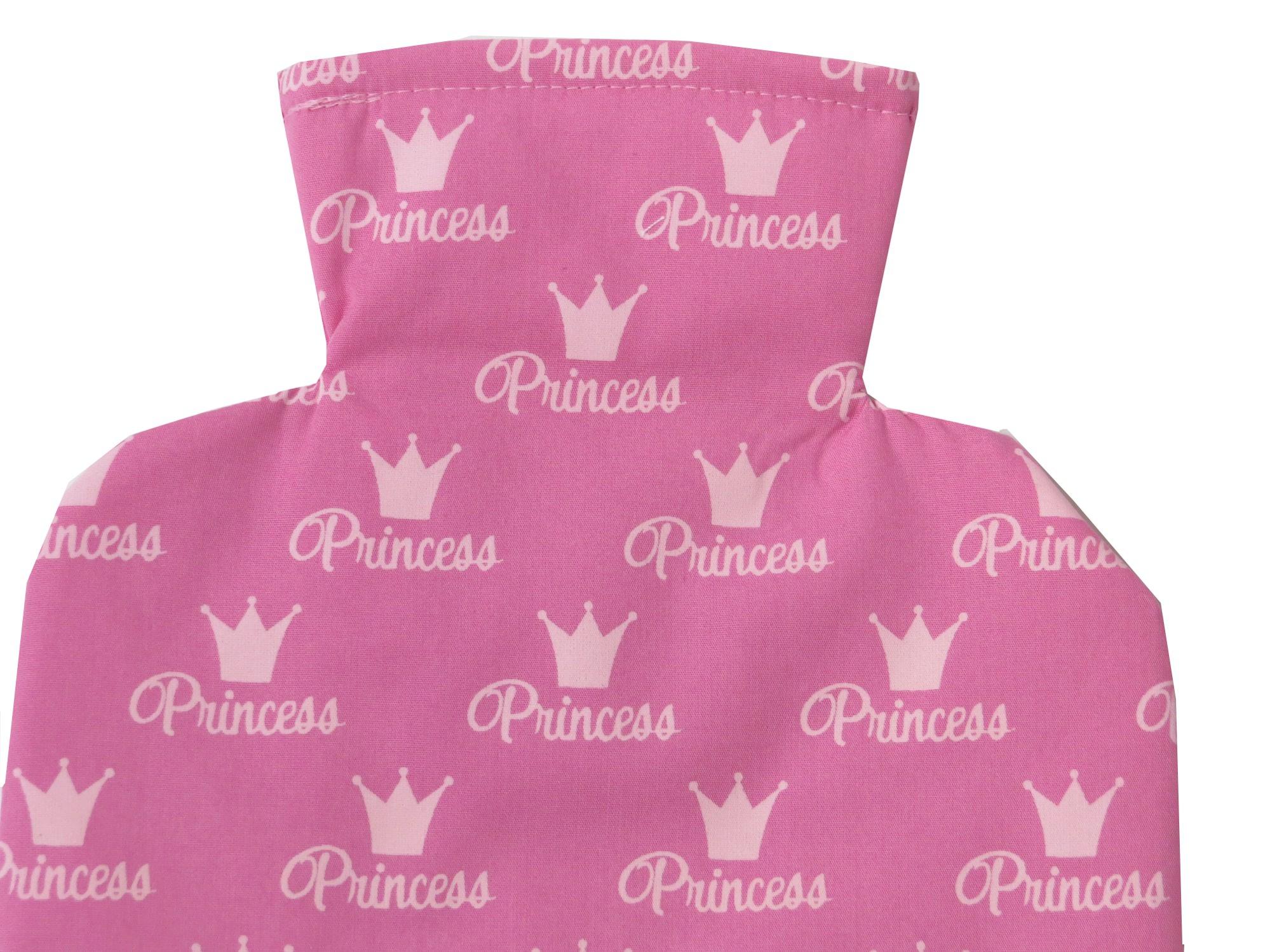 Kleinesbild - Wärmflaschenbezug Princess in pink für 2l Wärmflasche