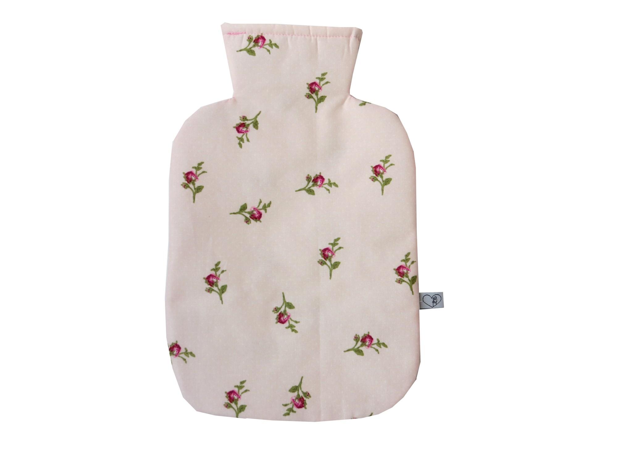 - Wärmflaschenbezug zartrosa mit Rosen für 2l Wärmflasche - Wärmflaschenbezug zartrosa mit Rosen für 2l Wärmflasche
