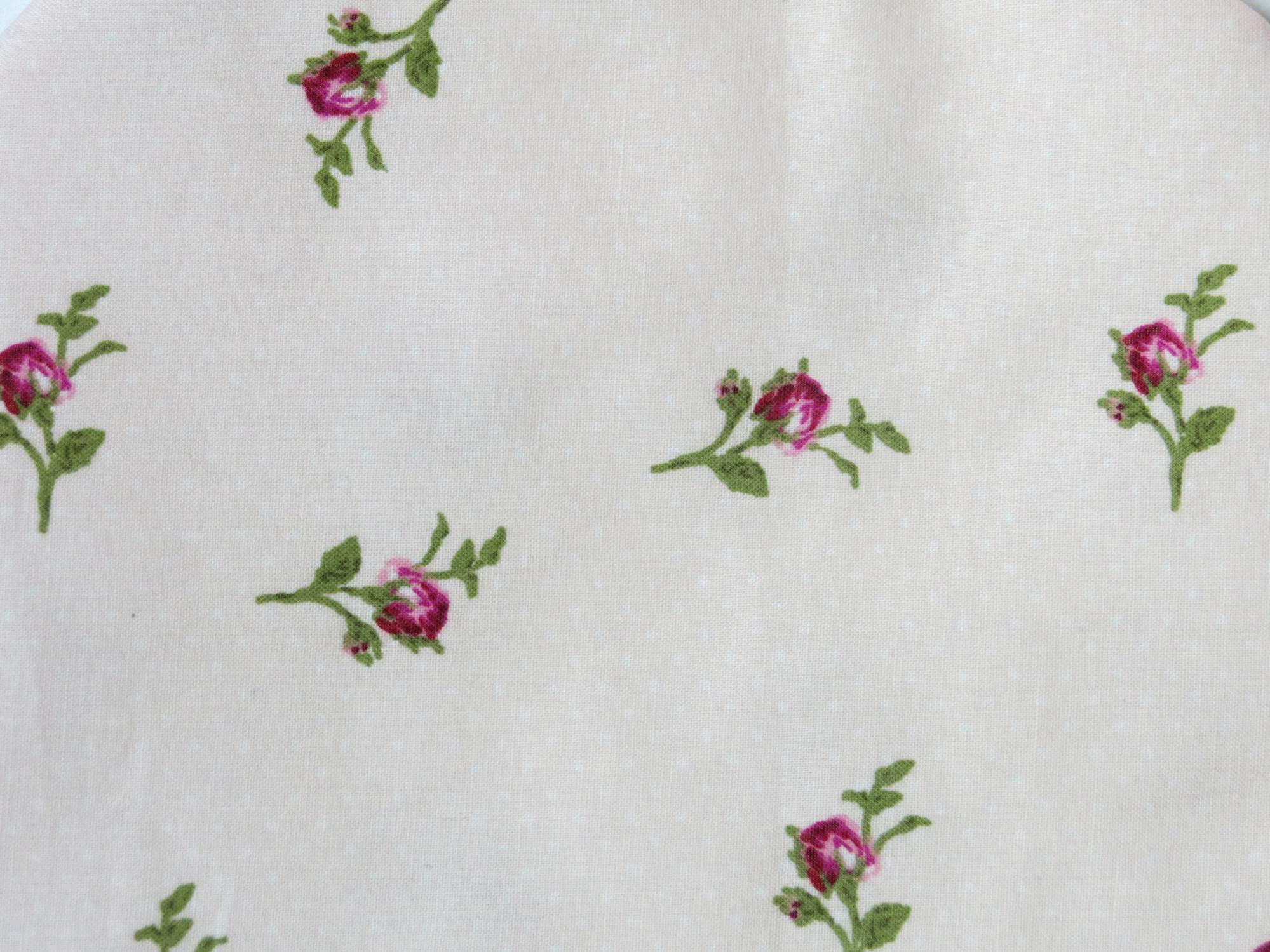 Kleinesbild - Wärmflaschenbezug zartrosa mit Rosen für 2l Wärmflasche