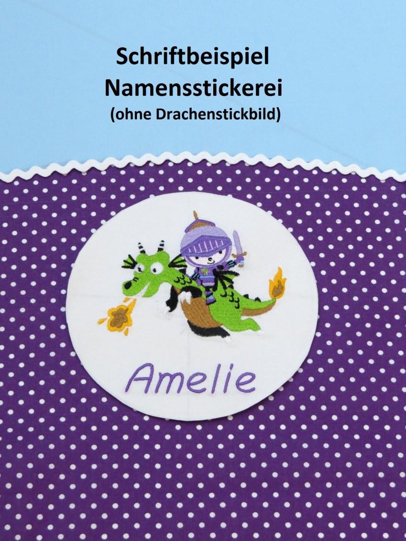Kleinesbild - Aufpreis für Namensstickerei für Schultüten Kunstwerkstatt der Wolle