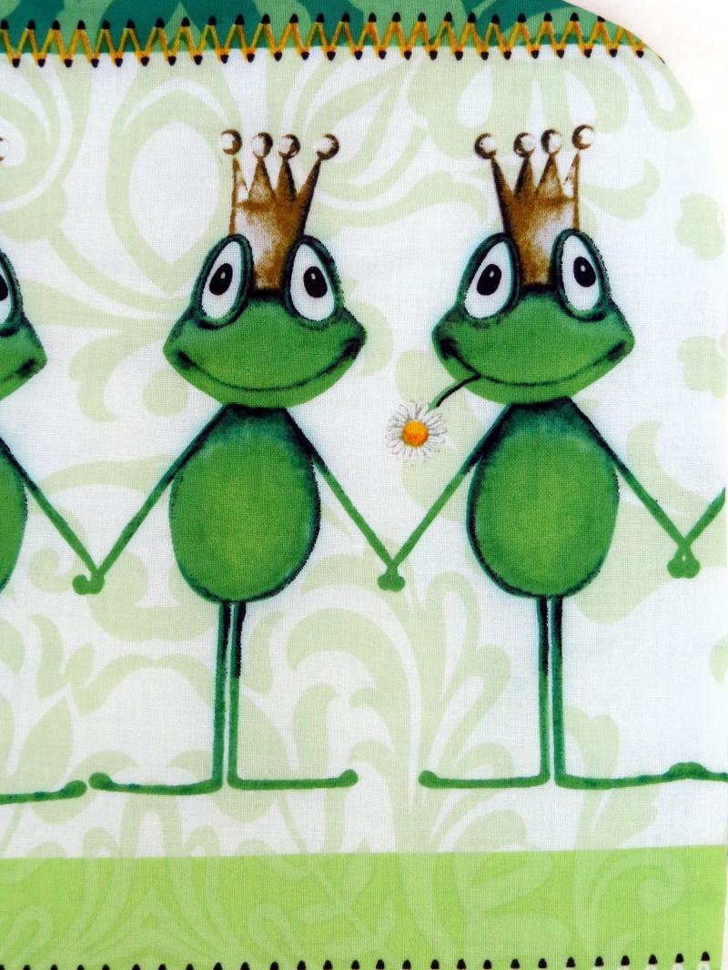 Kleinesbild - Wärmflaschenbezug Froschkönig in weiß und grün für 2l Wärmflasche