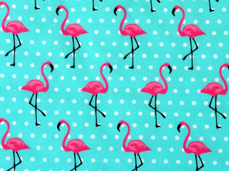 Kleinesbild - Wärmflaschenbezug mit NAMEN itürkis mit Flamingos für 2l Wärmflasche