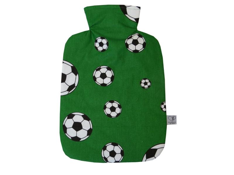 - Wärmflaschenbezug mit Namen Fußball in grün Polizei für 2l Wärmflasche      - Wärmflaschenbezug mit Namen Fußball in grün Polizei für 2l Wärmflasche