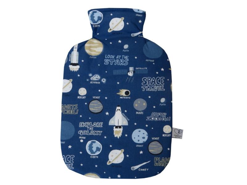 - Wärmflaschenbezug mit Namen Weltall Rakete Planeten für 2l Wärmflasche    - Wärmflaschenbezug mit Namen Weltall Rakete Planeten für 2l Wärmflasche