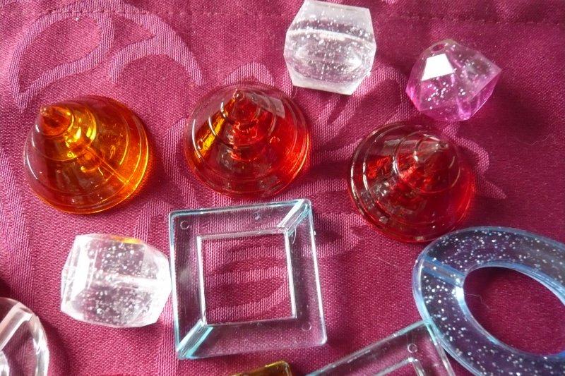 Kleinesbild - Große Acrylperlen Elemente zur Schmuckherstellung