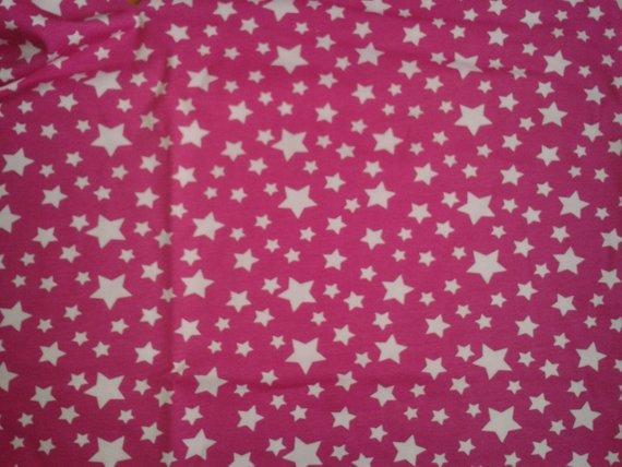 - Baumwoll-Jersey Sterne auf Pink, Stoff, Kombistoff, Mädchen, Frau, Baby, Kinderstoff - Baumwoll-Jersey Sterne auf Pink, Stoff, Kombistoff, Mädchen, Frau, Baby, Kinderstoff