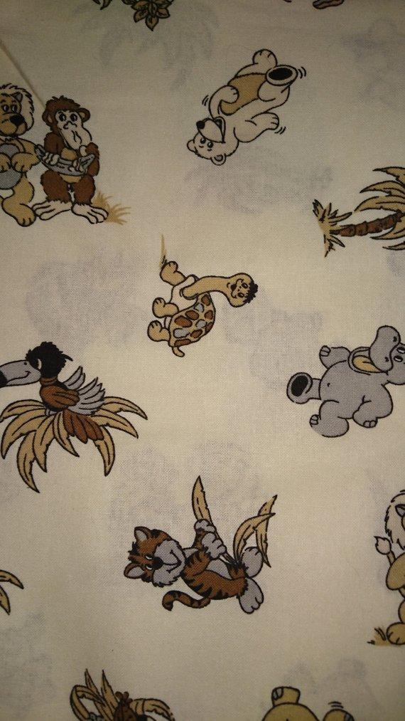 - Baumwolle Stoff Tiere Kinderstoff Mädchen Baby Junge - Baumwolle Stoff Tiere Kinderstoff Mädchen Baby Junge
