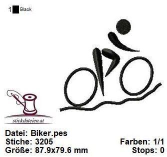 - Biker, Fahrrad, Sport, Stickdatei 10x10 - Biker, Fahrrad, Sport, Stickdatei 10x10