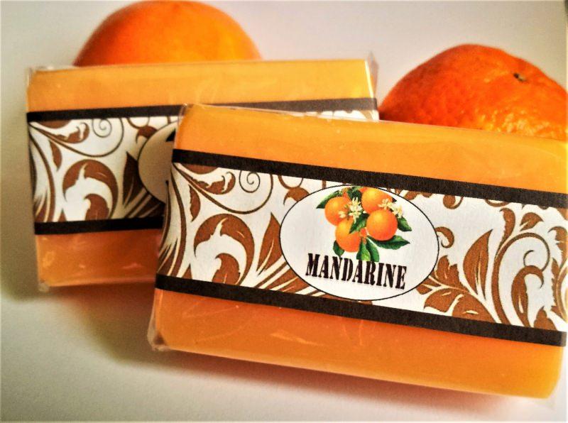 Kleinesbild - handgemachte frisch-fruchtige Seife Mandarine