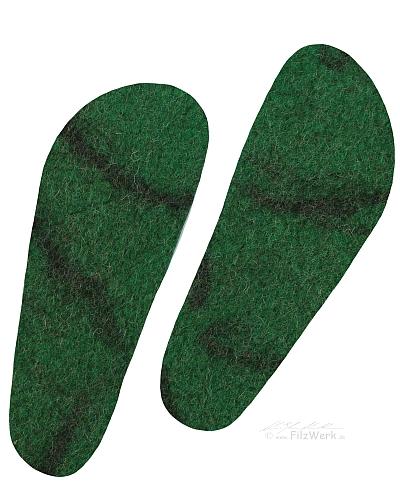 - FilzWerk Schafwoll-Filzeinlegesohlen Gr. 40 / unisex /grün dunkel / herrlich warm / gesundes Klima im Schuh / feuchtigkeitsregulierend  - FilzWerk Schafwoll-Filzeinlegesohlen Gr. 40 / unisex /grün dunkel / herrlich warm / gesundes Klima im Schuh / feuchtigkeitsregulierend