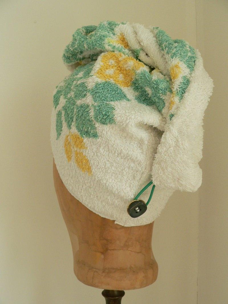 Kleinesbild - Turban, Handtuchturban aus original altem Handtuch
